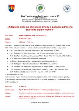 26. května Tvarožná Lhota: Setkání škol obnovy venkova a dalších