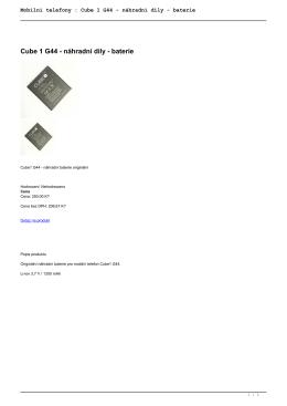 Mobilní telefony : Cube 1 G44 - náhradní díly - baterie
