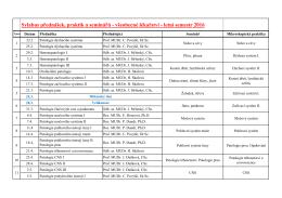 Sylabus přednášek, praktik a seminářů - všeobecné lékařství
