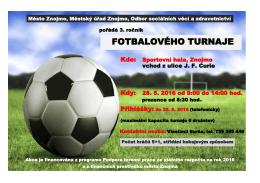 Pozvánka na Fotbalový turnaj – 3. ročník