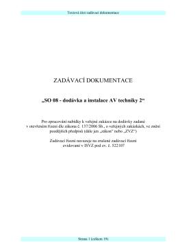 SO 08 - dodávka a instalace AV techniky 2