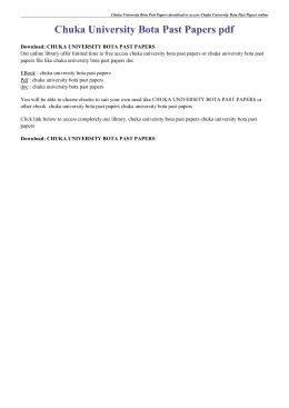Chuka University Bota Past Papers pdf