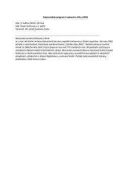 Doprovodný program k výstavě a info o MZK