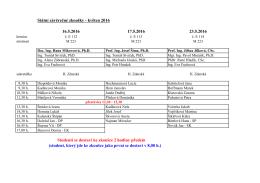 Státní závěrečné zkoušky - květen 2016 16.5.2016 17.5