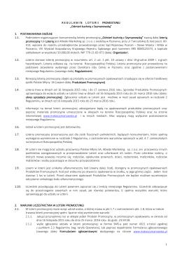 Regulamin - Mąka Szymanowska