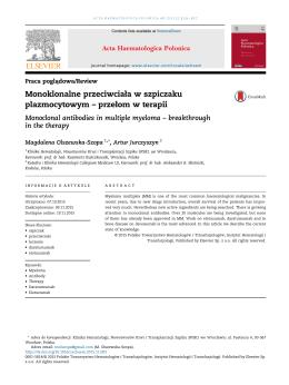 Monoklonalne przeciwciała w szpiczaku plazmocytowym – przełom
