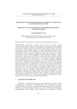 Dudzińska-Nowak J. Określenie tendencji rozwojowych brzegu na