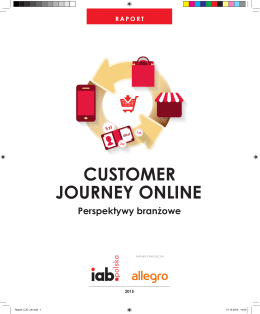 CUSTOMER JOURNEY ONLINE Perspektywy branżowe