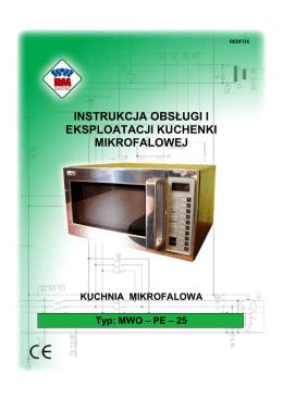 Instrukcja Mikrofalówki MWO-PE-25