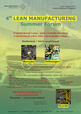 th 4 Summer Forum LEAN MANUFACTURING