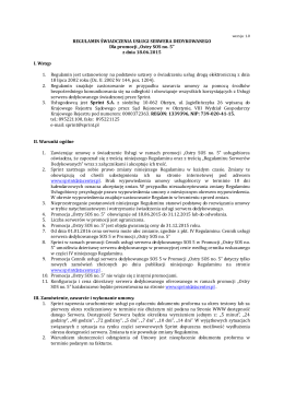 "Regulamin promocji ""Ostry SOS no. 5"""