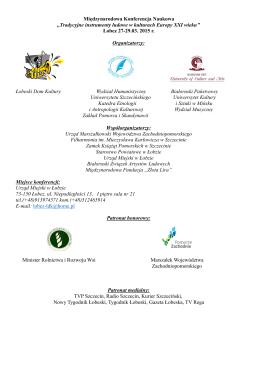 Międzynarodowa Konferencja Naukowa ,,Tradycyjne instrumenty