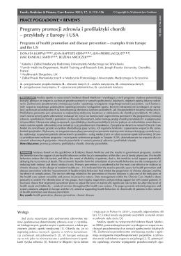 Programy promocji zdrowia i profilaktyki chorób
