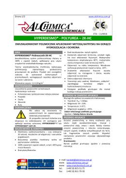 HYPERDESMO® - POLYUREA – 2K-HC karta