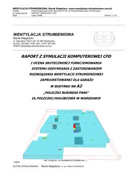 CFD-jetfan-gara¿ A2 ul.Poleczki