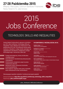 Plakat 2015 Jobs Conference: Technology, skills
