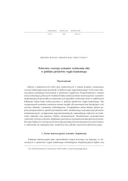 Priorytety rozwoju systemów wybierania złóż w polskim górnictwie