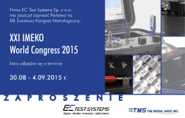 XXI IMEKO World Congress 2015