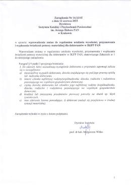 wersja PDF - Instytut Katalizy i Fizykochemii Powierzchni PAN