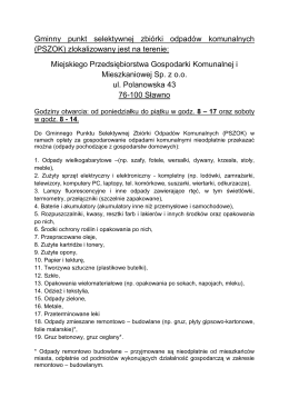 Gminny punkt selektywnej zbiórki odpadów komunalnych (PSZOK