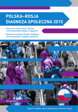 POLSKA–ROSJA DIAGNOZA SPOŁECZNA 2015