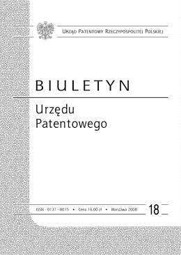 bup18_2008 - Wyszukiwarka Urzędu Patentowego