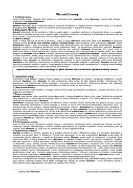 Warunki Umowy - Shentel Network