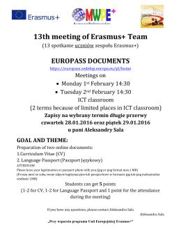 13th meeting of Erasmus+ Team