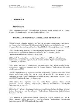 Publikacje - Instytut Amerykanistyki i Studiów Polonijnych
