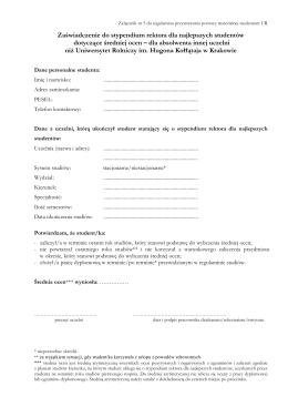 Zał. nr 5_zaświadczenie do stypendium rektora dotyczące średniej