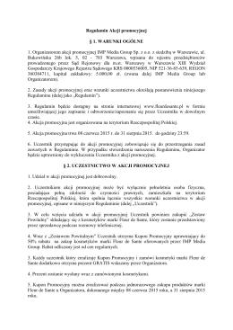 Regulamin akcji z kuponem promocyjnym ()