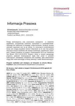Wystawcy z Polski na edycję 2016
