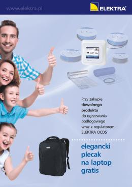 elegancki plecak na laptop gratis