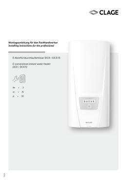 Elektronischer Durchlauferhitzer DCX / DCX 13