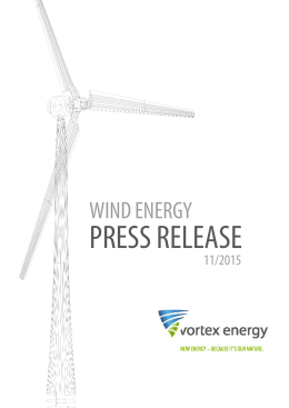 PRESS RELEASE - vortex energy