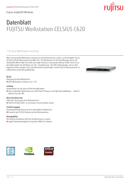 Datenblatt FUJITSU Workstation CELSIUS C620