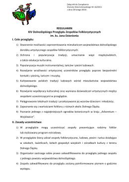 REGULAMIN XIV Dolnośląskiego Przeglądu Zespołów