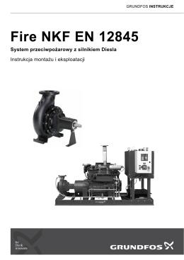 Fire NKF EN 12845 System przeciwpożarowy z silnikiem