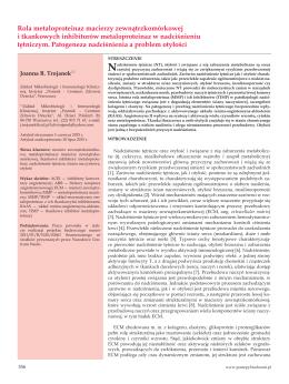 Rola metaloproteinaz macierzy zewnątrzkomórkowej i tkankowych