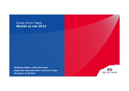 Prezentacja wyników za cały 2014 rok
