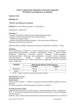 Tekst na opakowanie jednostkowe (kartonik, pojemnik) 30 tabletek o