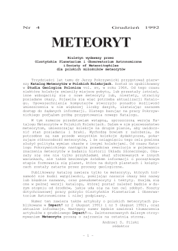 4/1992 - METEORYT