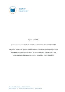 Opinia nr 4/2015 dotycząca wniosku w sprawie rozporządzenia