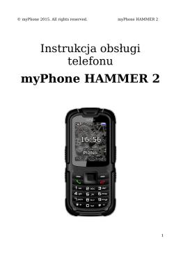 myPhone Hammer 2- Instrukcja Obsługi [PL]
