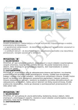 Grupa produktów MYCETOX