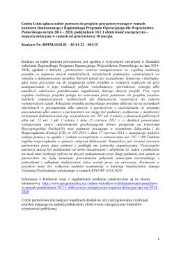 Gmina Linia ogłasza nabór partnera do projektu przygotowywanego