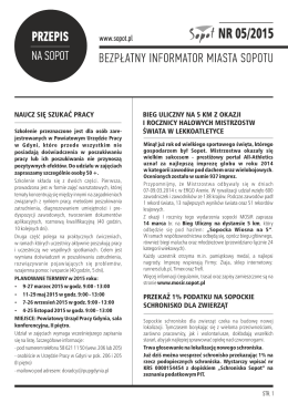 Przepis na Sopot 05/15