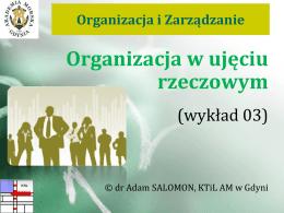 Organizacja w ujęciu rzeczowym