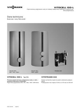 DT Vitocell 100-L CVL, Vitotrans 222 (04.2015)