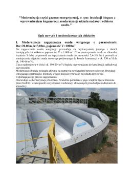 Modernizacja części gazowo-energetycznej